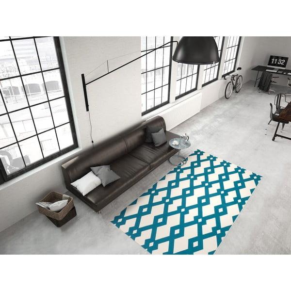 Modro-biely koberec Kayoom Stella 100 Blue, 120x170cm