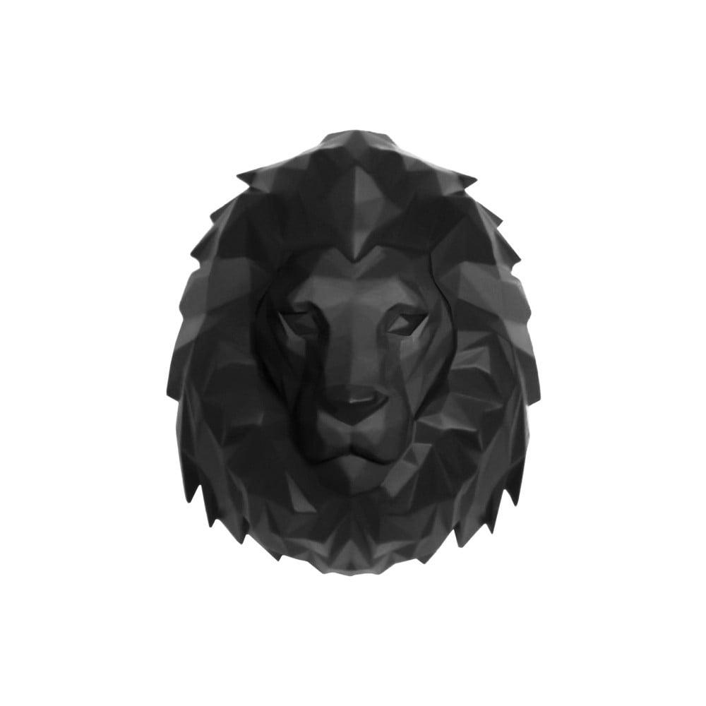 Matne čierny nástenný vešiak PT LIVING Origami Lion