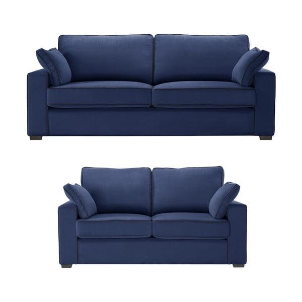 Dvojdielna sedacia súprava Jalouse Maison Serena, námornícka modrá