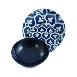 Sada porcelánových tanierov Mandala Blu, 12 ks