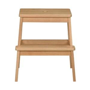 Prírodná dubová stolička/schodíky Rowico Gorgona