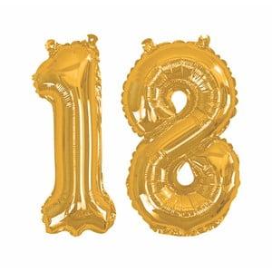 Balónik s číslom 18 Neviti Gold