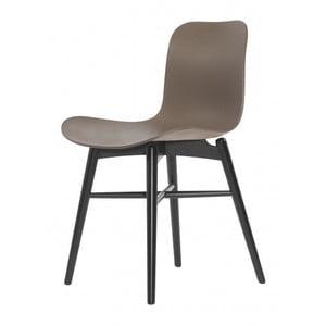 Hnedá jedálenská stolička NORR11 Langue Dark