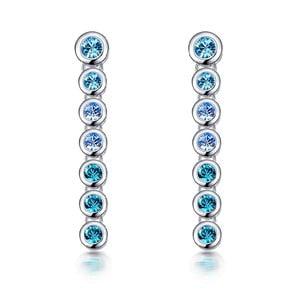 Náušnice s modrými krištáľmi Swarovski Elements Crystals Drops