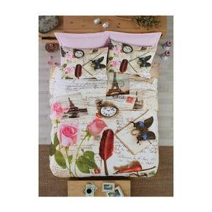 Bavlnené obliečky s plachtou Letters, 200 x 220 cm