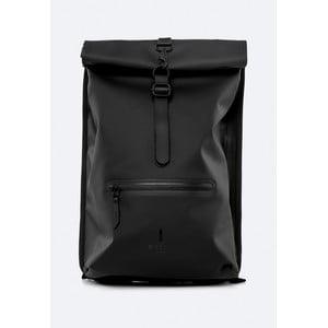 Čierny rolovací batoh s vysokou vodoodolnosťou Rains Rucksack