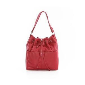 Červená kožená kabelka Gianni Conti Rica