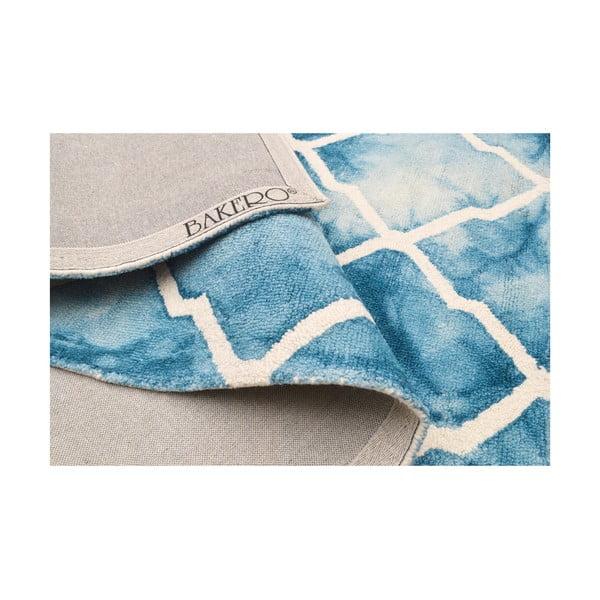 Ručne tuftovaný modrý koberec Bakero Batik, 153 x 244 cm