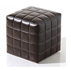 Puf na sedenie Bakero Squares z umelej kože, 40x40 cm