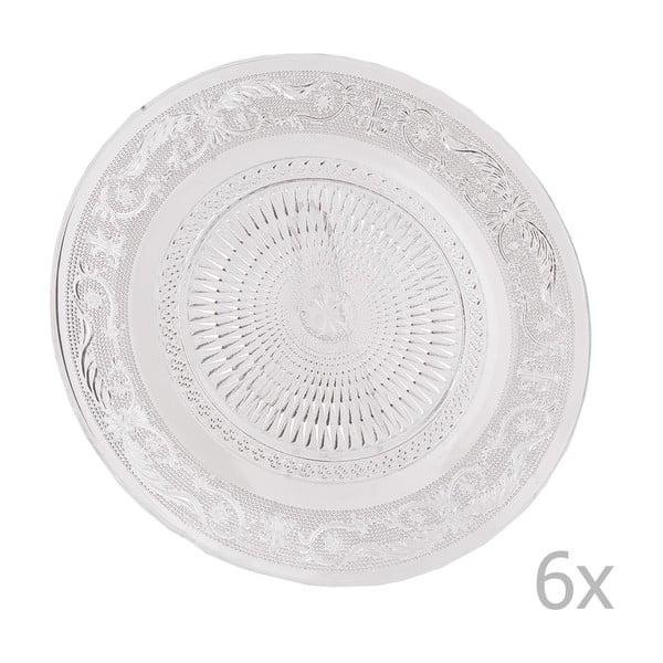 Sada 6 sklenených tanierov Clayre, 25 cm