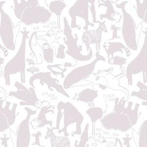 Svetlofialová tapeta do detskej izby Art For Kids Animals, 48 x 1000 cm