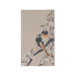 Plagát z ručne vyrábaného papiera BePureHome Pinktails, 35 × 25 cm
