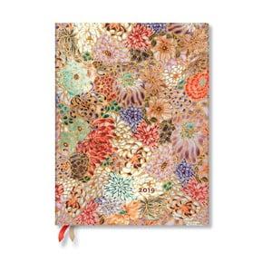 Diár na rok 2019 Paperblanks Kikka, 18 x 23 cm