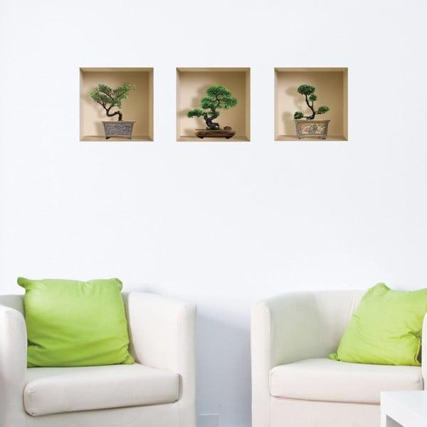 3D samolepky na stenu Nisha Banzai