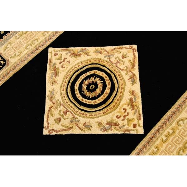 Vlnený koberec Bakero Vanilla/Black, 90x160 cm