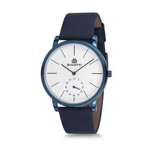 Pánske hodinky s modrým koženým remienkom Bigotti Milano Wave