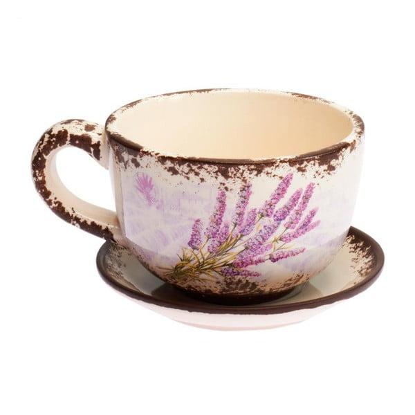 Hrnček s tanierikom Lavender Vintage