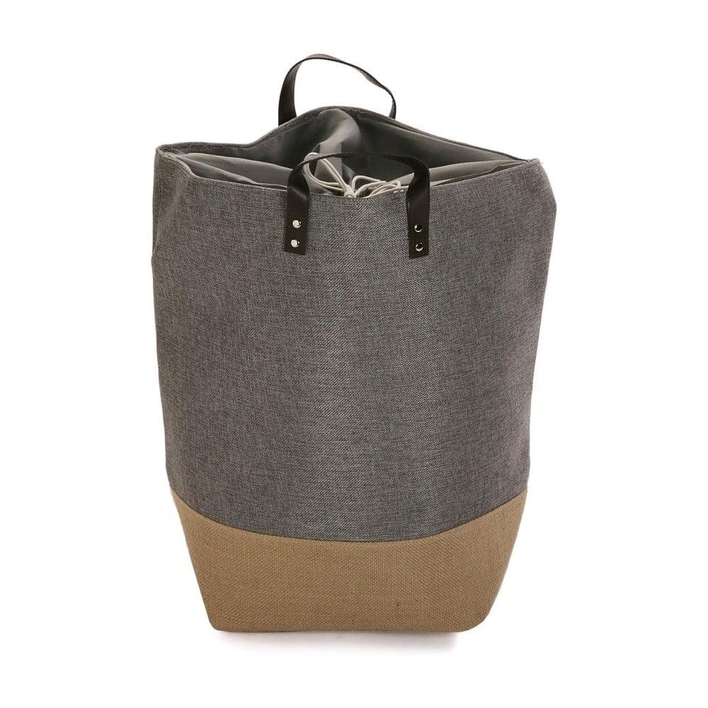 Sivo-hnedý úložný kôš na prádlo Versa Home
