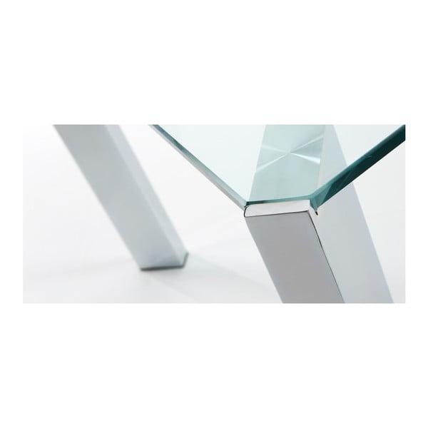 Jedálenský stôl Corner, 190x90cm, chrómované nohy