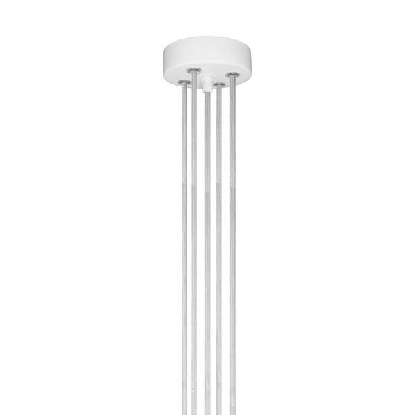 Závesné svietidlo s 5 bielymi káblami a medenou objímkou Bulb Attack Uno Group