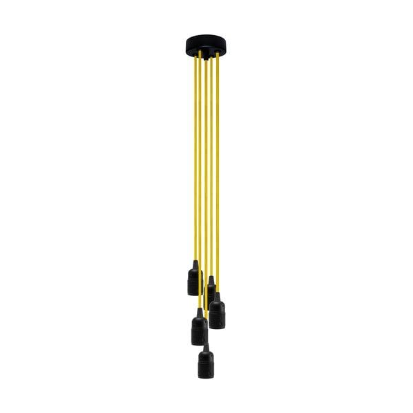 Päť závesných káblov Uno, žlutá/čierna
