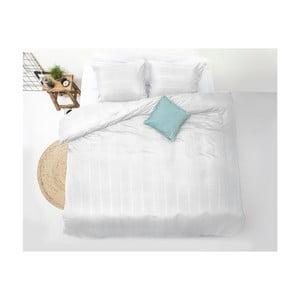 Biele obliečky z mikroperkálu na jednolôžko Sleeptime Montreal, 140×200cm