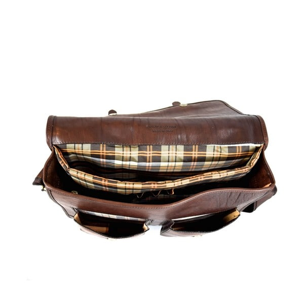 Kožená taška Santo Croce 108718 Dark Brown
