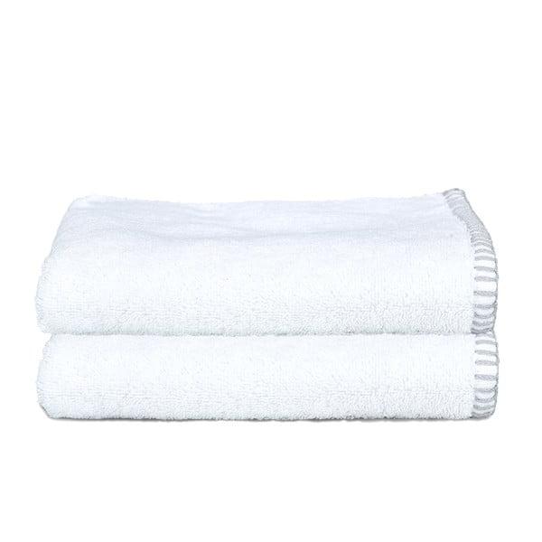 Sada 2 uterákov Whyte 50x90 cm, biela/šedá