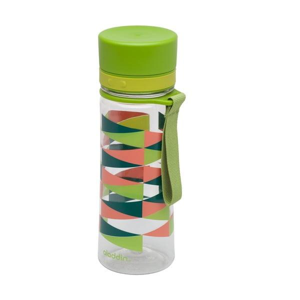Fľaša na vodu so zeleným vrchnákom a potlačou Aladdin Aveo, 350ml