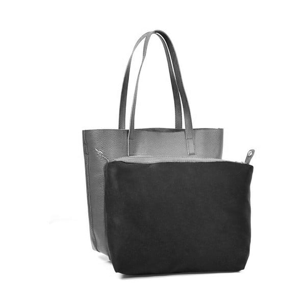 Kožená kabelka Amande, tmavo čierna