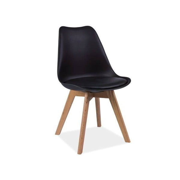 Čierna stolička Signal Kris