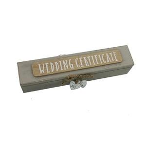 Puzdro na svadobný certifikát Celebrations Jenny