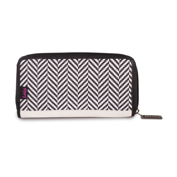Peňaženka Lois Wallet Black Geometry, 18x9 cm