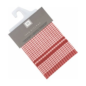 Sada 6 červených bavlnených utierok Tiseco Home Studio Cristal, 50 × 70 cm
