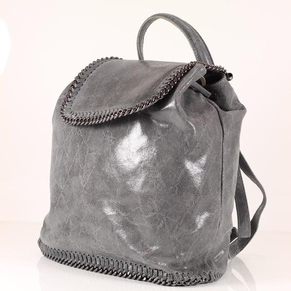 Kožený batôžtek Emily, šedý