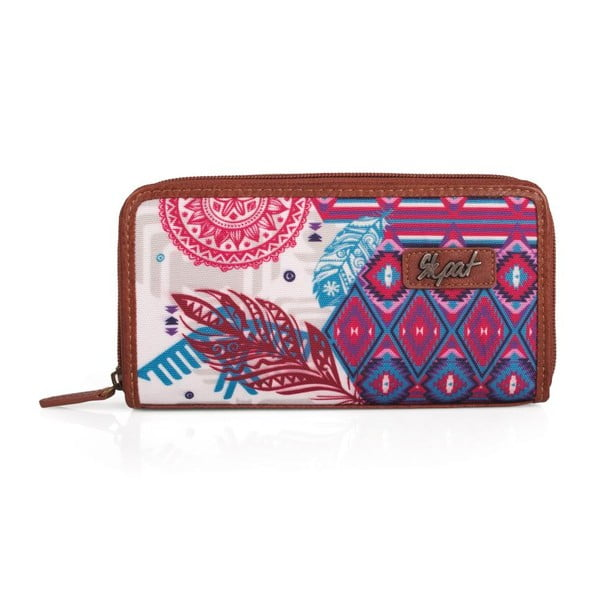 Ružovo-biela peňaženka SKPA-T, 19 x 9,5 cm