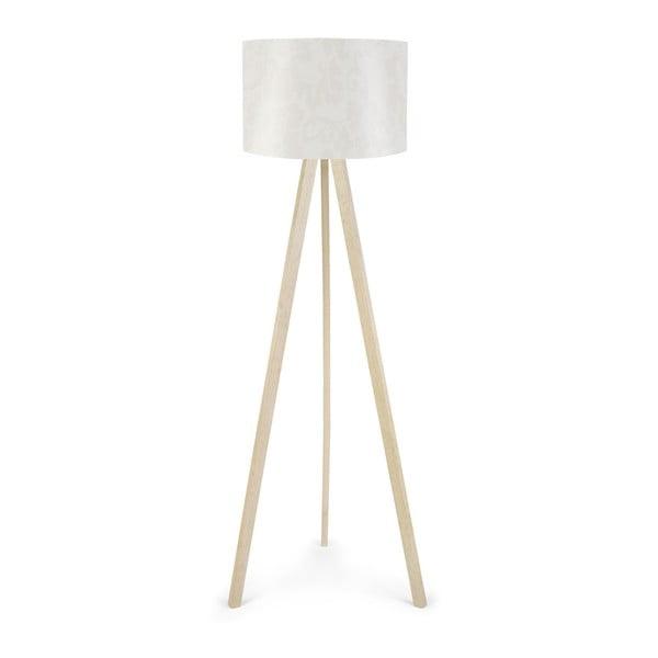 Biela stojacia lampa Aida