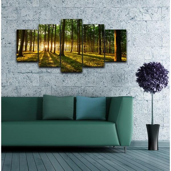 5dielny obraz Medzi stromami