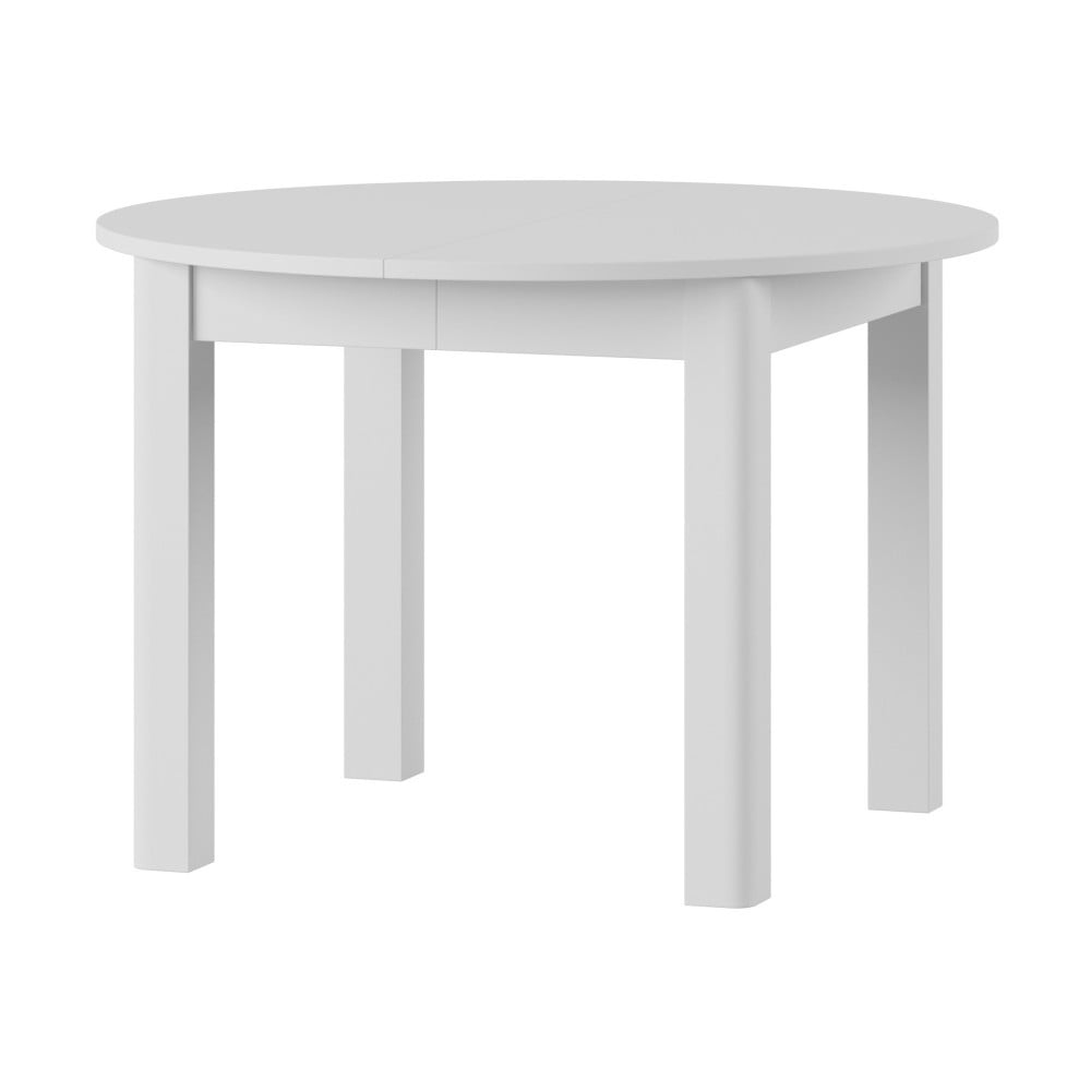 Biely rozkladací jedálenský stôl Szynaka Meble Uran