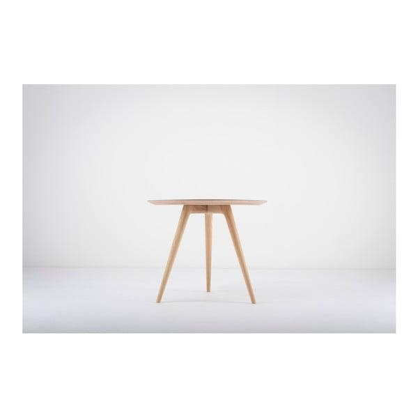 Príručný stolík z dubového dreva s modrou doskou Gazzda Arp, ⌀ 55 cm
