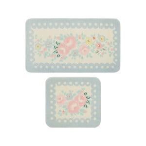 Sada 2 kúpeľňových predložiek Confetti Bathmats Serenity Blue