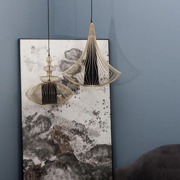 Stropné svetlo Golden Cage, 57x71,5 cm