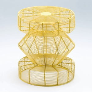Žltá stolička Thain Nature, výška 50 cm