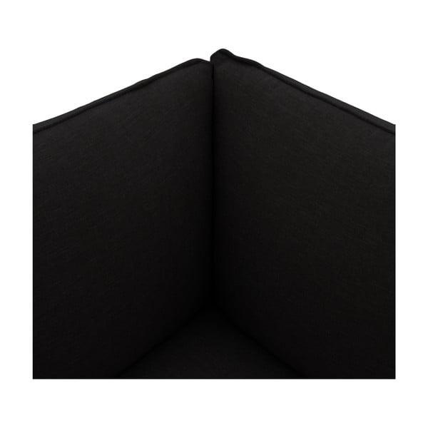 Tmavohnedé kreslo VIVONITA Cube, pravá strana