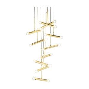 Stropné svietidlo v zlatej farbe Kare Design Cluster