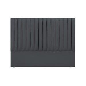 Sivé čelo postele Cosmopolitan design NJ, 160×120 cm