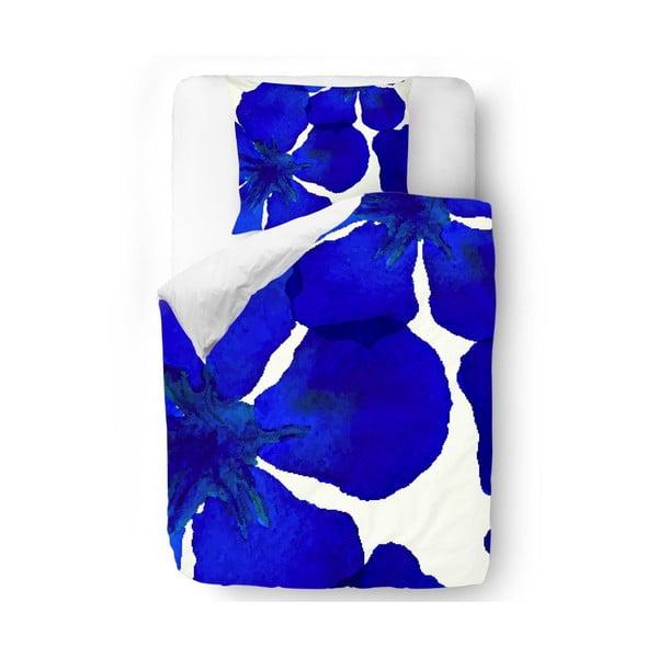 Obliečky Blue Abstract Flowers, 140x200 cm