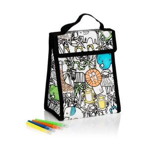 Set popisovateľnej taštičky na obed a štyroch písacích pier NPW Lunch Bag