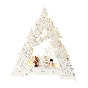 Biela svietiaca dekorácia Best Season Glitter Tree