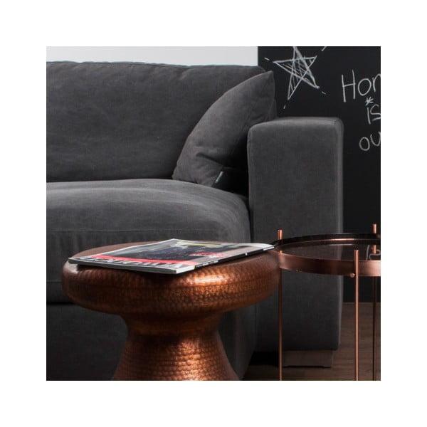Stolička/odkladací stolík v medenej farbe Zuiver Antique